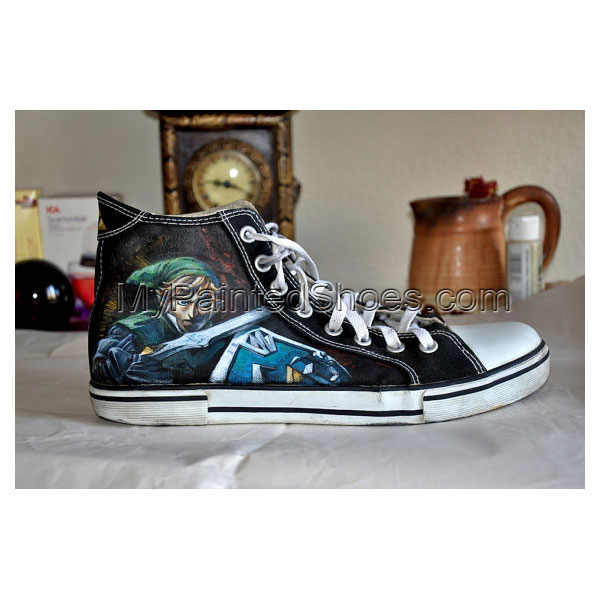 Custom Hand Painted Shoes Zelda Painted Canvas Shoes