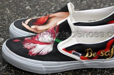Custom Hand Painted Shoes Twilight Painted Canvas Shoes-2