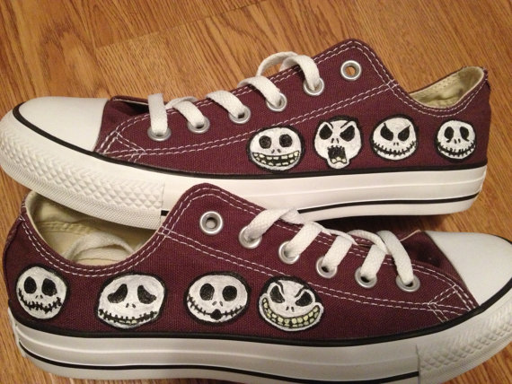 Nightmare Before Christmas Hand Painted Shoes-1