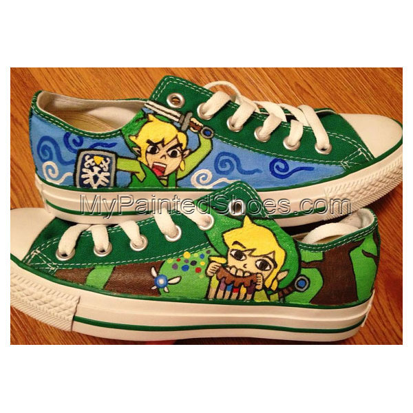 Legend of Zelda Hand Painted Canvas Shoes
