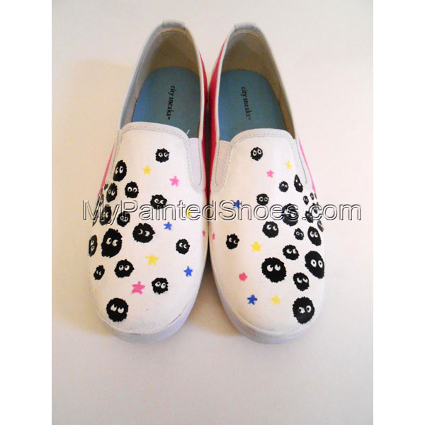 custom shoes from My Neighbor Totoro and Spirited Away