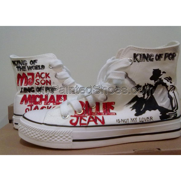 MJ customized shoes High-top Painted Canvas Shoes
