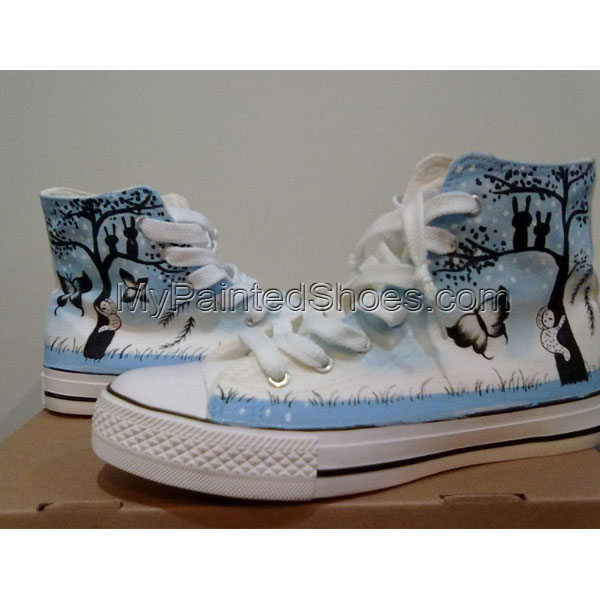 Wonderful Night Sky Themed custom shoes High-top Painted Canvas
