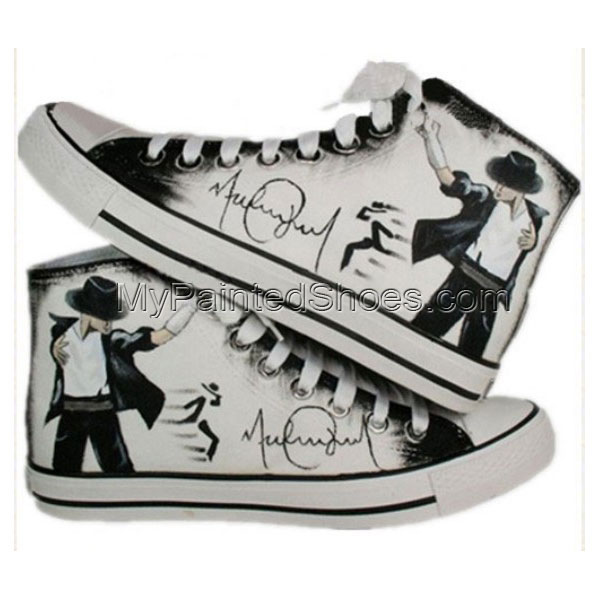 Michael Jackson customized shoes High-top Painted Canvas Shoes