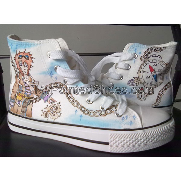 customized canvas anime shoes High-top Painted Canvas Shoes