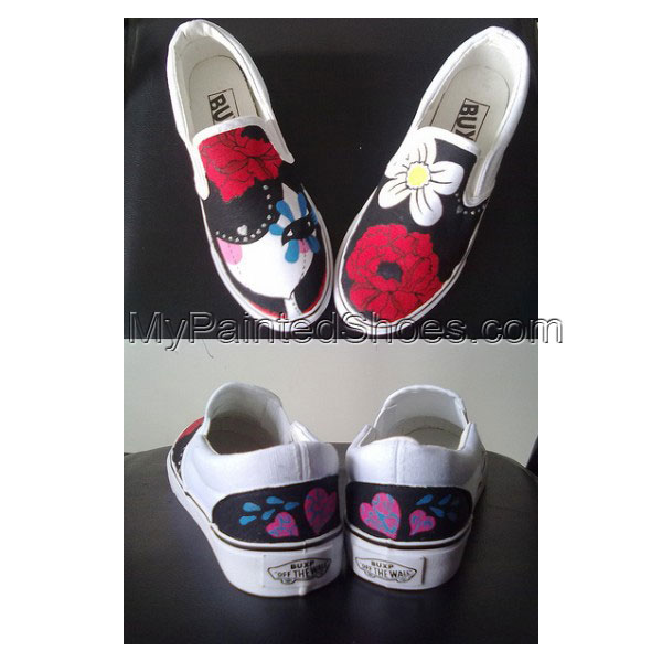 Dummy Doll slip on shoes Slip-on Painted Canvas Shoes