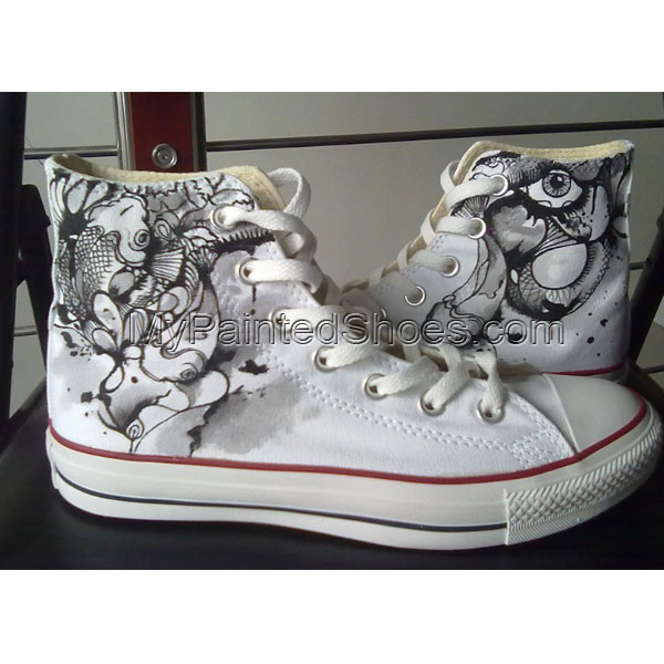 customize canvas shoes High-top Painted Canvas Shoes 0625