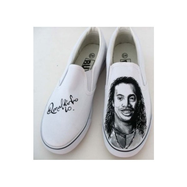 Ronaldinho slip on canvas shoes Slip-on Painted Canvas Shoes