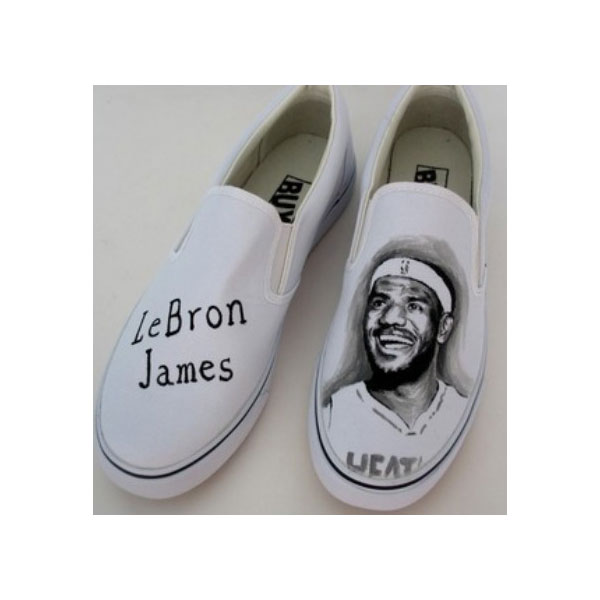 LeBron James hand painted shoes Slip-on Painted Canvas Shoes