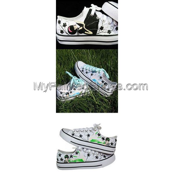 Hand painted Canvas sneakers for women Low-top Painted Canvas Sh