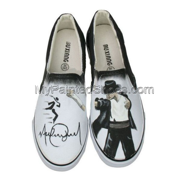 Michael Jackson canvas shoes Slip-on Painted Canvas Shoes