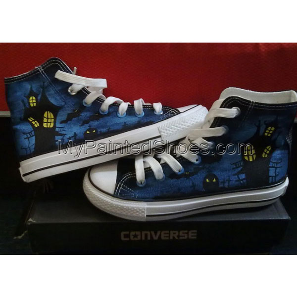 Vampire's Love hand painted high top sneakers Painted Canvas Sho