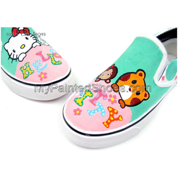 Hello Kitty Slip-on Painted Canvas Shoes