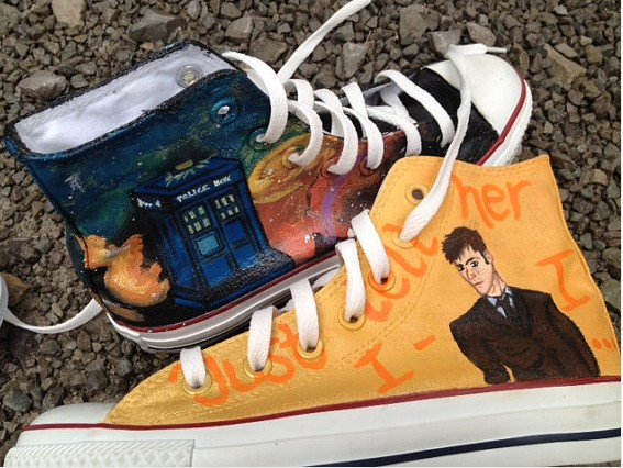 Doctor Who Custom Shoes High-top Painted Canvas Shoes-1
