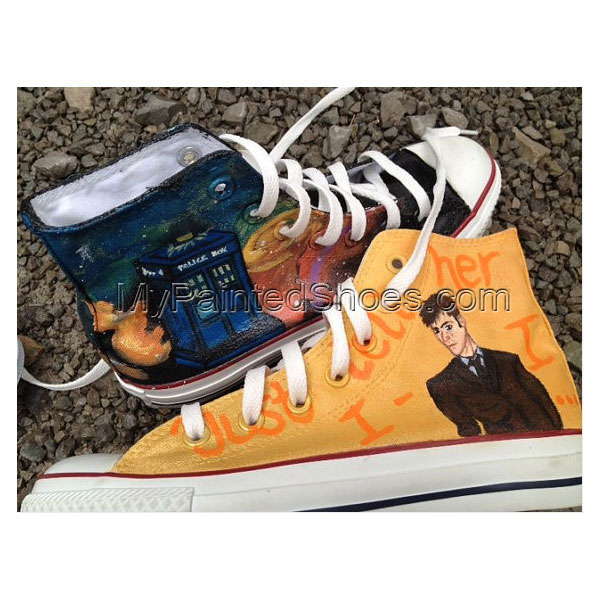 Doctor Who Custom Shoes High-top Painted Canvas Shoes