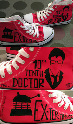 Doctor Who shoes High-top Painted Canvas Shoes-1