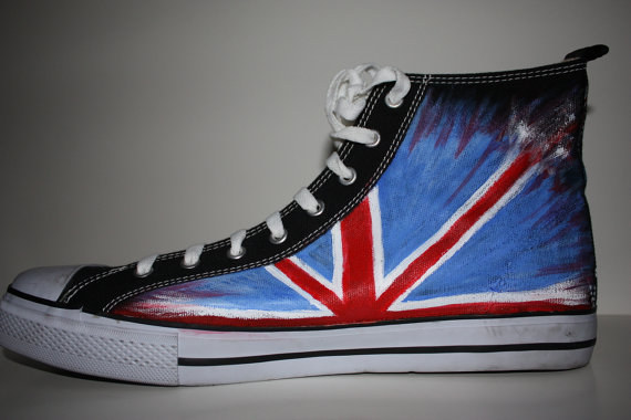 Custom Painted Doctor WHO Handpainted Shoes High-top Painted Can-1