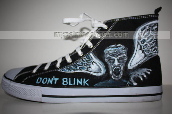 Custom Painted Doctor WHO Handpainted Shoes High-top Painted Can-2