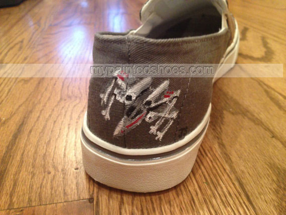 painted Star Wars shoes Slip-on Painted Canvas Shoes-2