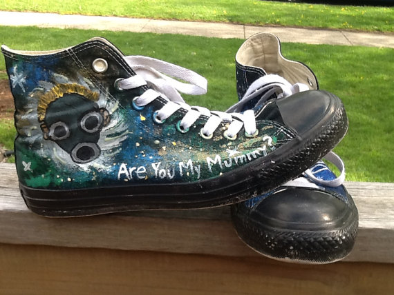 Doctor Who Galaxy High-top Painted Canvas Shoes-1