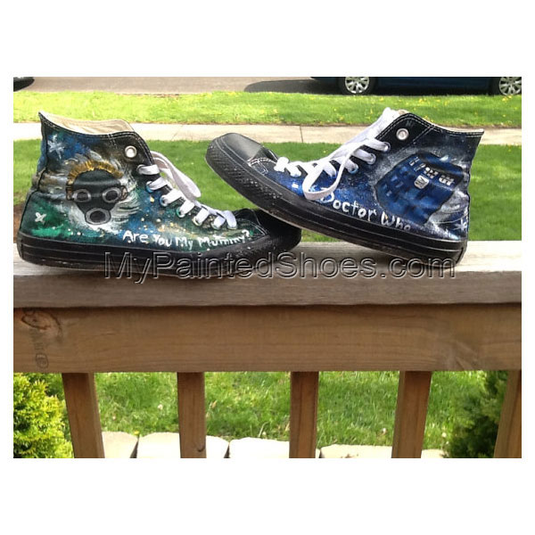 Doctor Who Galaxy High-top Painted Canvas Shoes