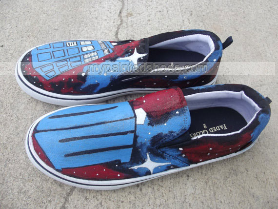 Doctor Who Custom sneaker Slip-on Painted Canvas Shoes-2