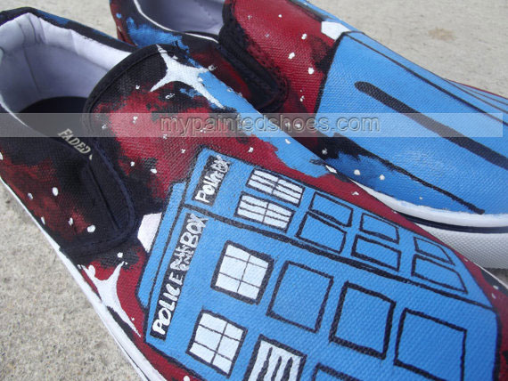 Doctor Who Custom sneaker Slip-on Painted Canvas Shoes-3