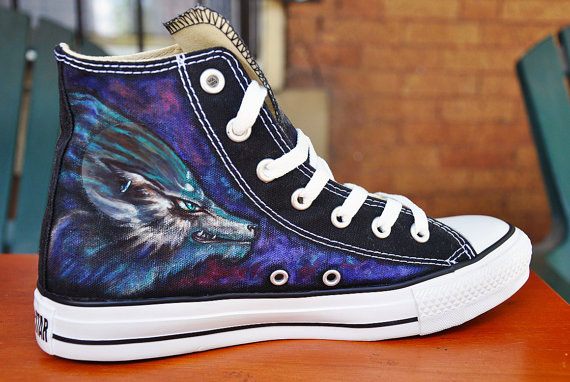 CUSTOM Hand Painted Shoes Zelda High-top Painted Canvas Shoes-3