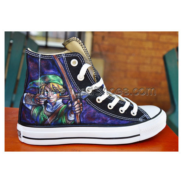 CUSTOM Hand Painted Shoes Zelda High-top Painted Canvas Shoes