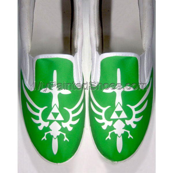 Custom The Legend of Zelda Hyrule Symbol Canvas Shoes