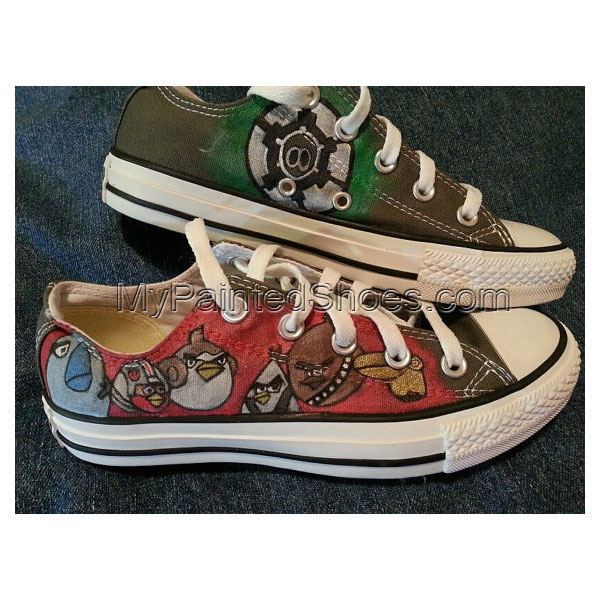 Hand-painted Angry Birds Star Wars Low-top Painted Canvas Shoes