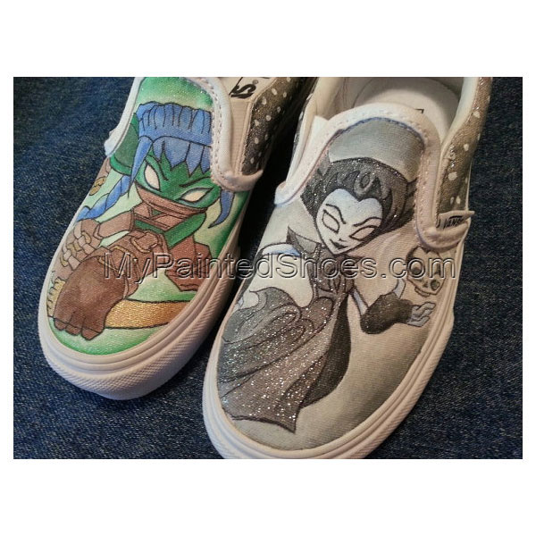 Hand-painted Skylanders Slip-on Painted Canvas Shoes