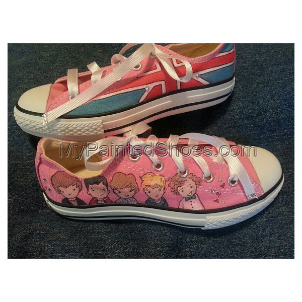 Hand-painted One Direction Low-top Painted Canvas Shoes