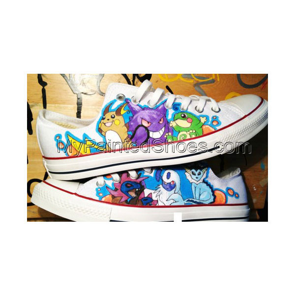 Pokemon Shoes Custom Pokemon Low-top Painted Canvas Shoes