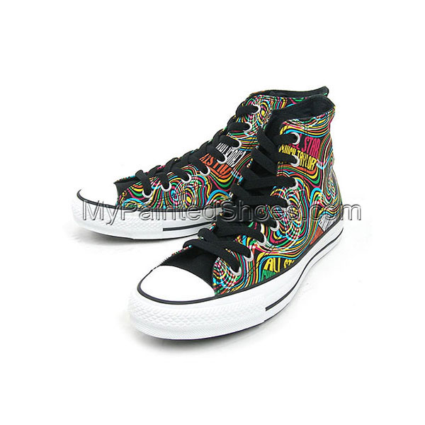 Custom psychedelic Painted Shoes