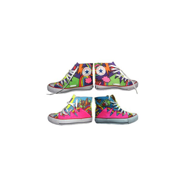 Hand painted sneakers High-top Painted Canvas Shoes