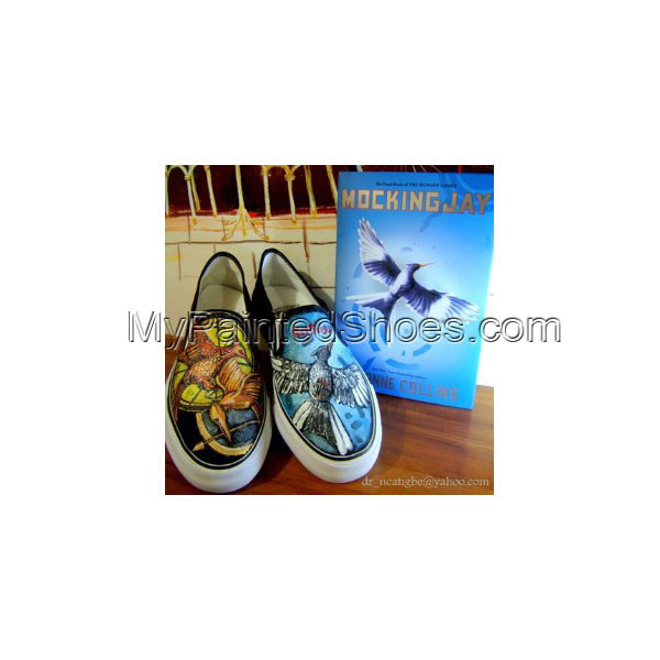 House of Night Canvas Shoes Custom Slip-on Painted Canvas Shoes