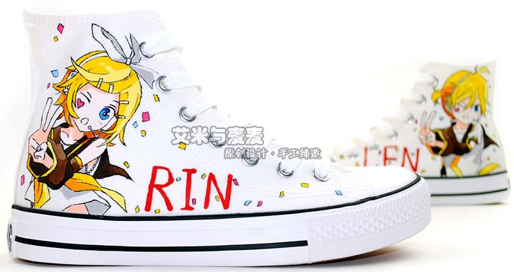 Kagamine Rin Len Vocaloid Anime Shoes Hand Painted Anime Shoes-1