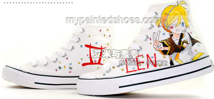 Kagamine Rin Len Vocaloid Anime Shoes Hand Painted Anime Shoes-2