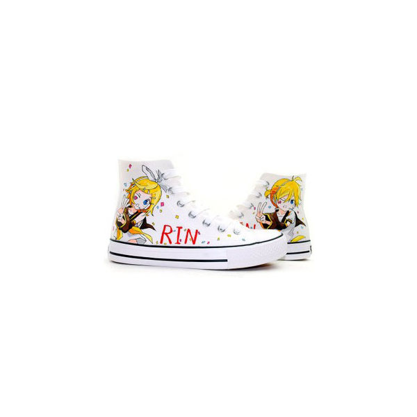Kagamine Rin Len Vocaloid Anime Shoes Hand Painted Anime Shoes