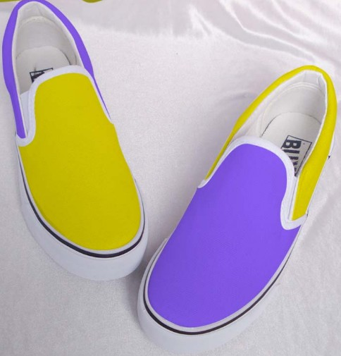 Mixed Color Shoes Hand Painted Shoes Slip-on Painted Canvas Shoe-1