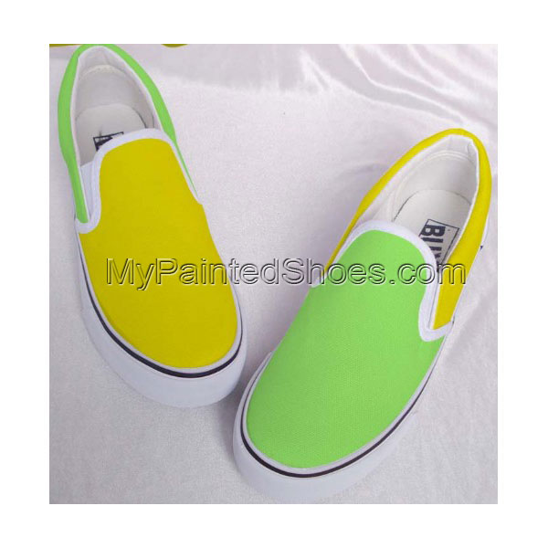 Mixed Color Shoes Hand Painted Shoes Slip-on Painted Canvas Shoe