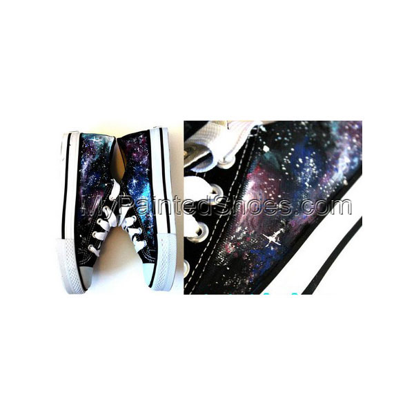 Galaxy Shoes Hand Painted Galaxy Shoes Low-top Painted Canvas Sh