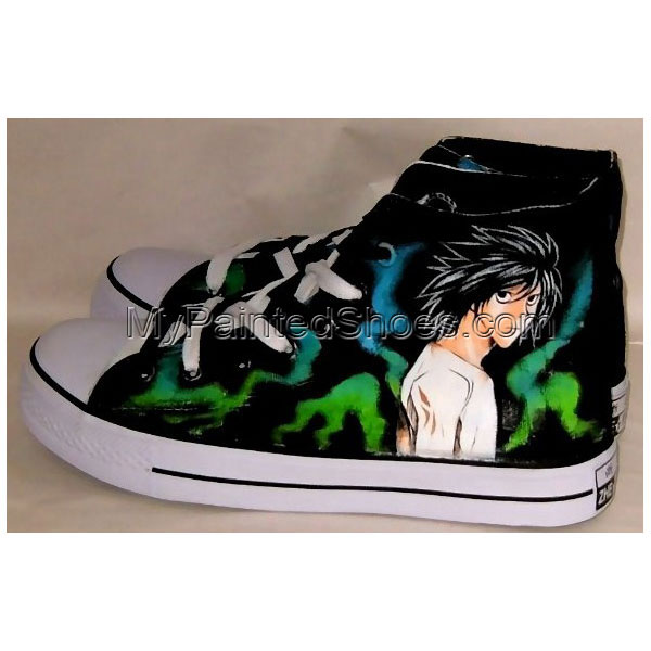 Hand painted death note shoes anime sneakers anime shoes