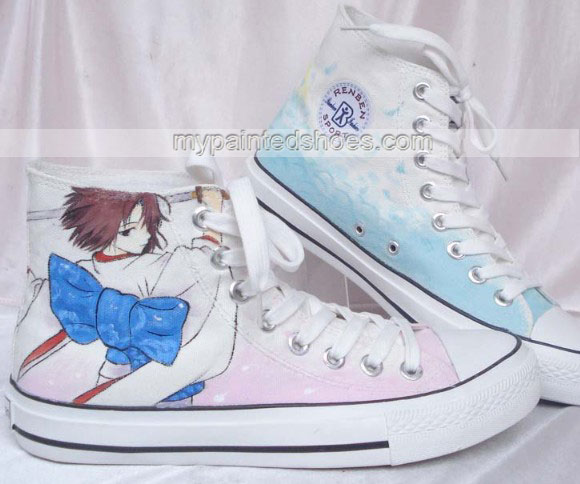 custom canvas shoes SABER High-top Painted Canvas Shoes-2