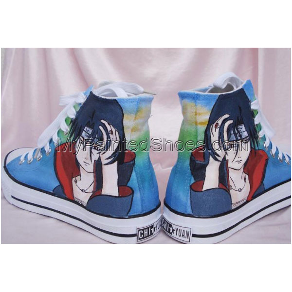 custom canvas shoes Naruto Painted Canvas Shoes Hand Painted Sho