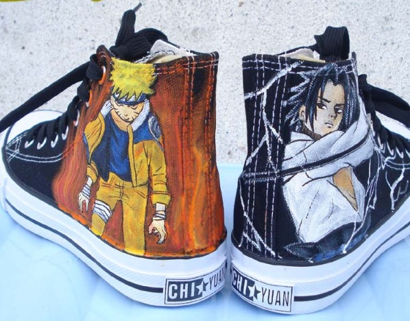 Naruto Sasuke shoes custom canvas shoes Naruto Anime Shoes-1