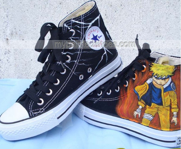 Naruto Sasuke shoes custom canvas shoes Naruto Anime Shoes-2