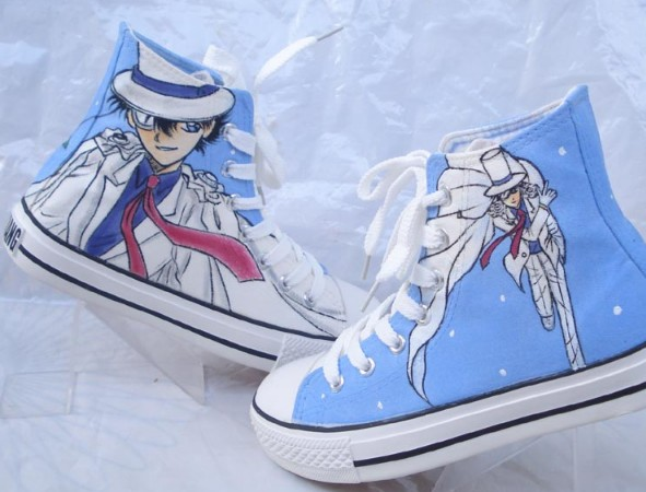 Detective Conan Shoes Custon Hand Painted Shoes-1