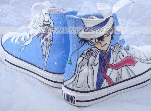 Detective Conan Shoes Custon Hand Painted Shoes-2